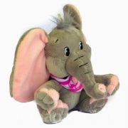 Elefánt plüssfigura – rózsaszín