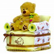 Foteles maci pelenkatorta – sárga
