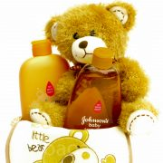 P1210449 180x180 - Macis Johnson's baby ajándékkosár - barna