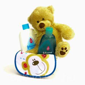 P1210454 300x300 - Macis Johnson's baby ajándékkosár - kék