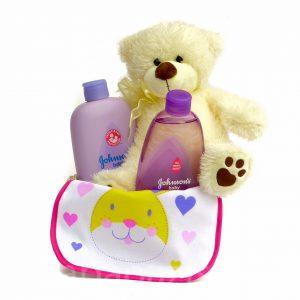 P1210459 300x300 - Macis Johnson's baby ajándékkosár - lila