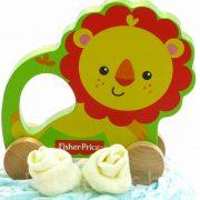 P1210512 180x180 - Mini Fisher-Price pelenkatorta - oroszlános