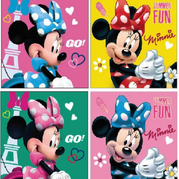 Minnie kéztörlő 600x600 - Disney Minnie arc- és kéztörlő 2 db-os