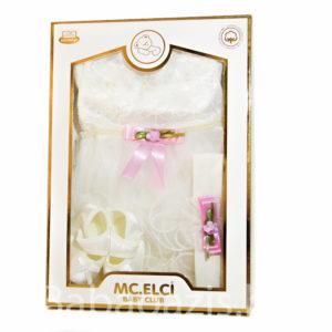 P1220573 300x300 - Keresztelő ruha szett kislányoknak – 3 részes
