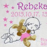 P1220588 2 180x180 - Egyedi hímzett kép - babás, pink keretben