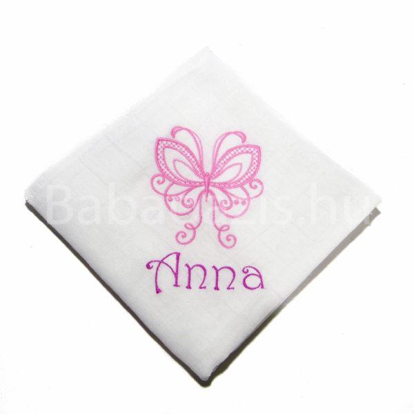 P1220698 600x600 - Egyedi hímzett textilpelenka - pillangós