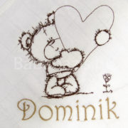macis egyedi névvel hímzett textilpelenka.1 180x180 - Egyedi hímzett textilpelenka - macis