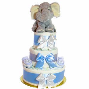 Elefántos pelenkatorta.kék.1. 300x300 - Elefáni pelenkatorta - kék