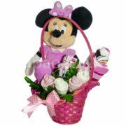 Minnie egér ajándékkosár