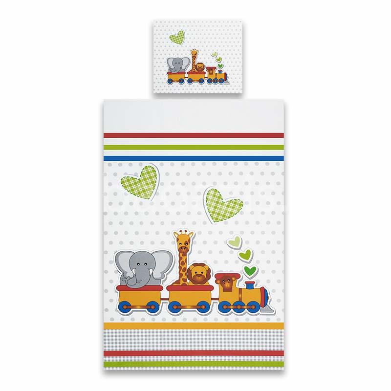 Vonatos ágynemű garnitúra - Babaoázis Webáruház-Egyedi baba ajándékok c61a159f2f
