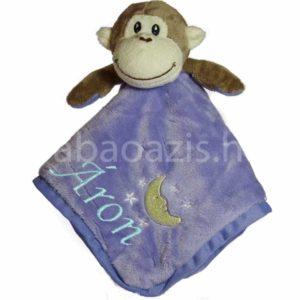 2 300x300 - Névre szóló plüss szundikendő - majmocskás
