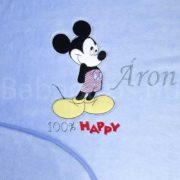 Névre szóló Disney Mickey wellsoft babatakaró