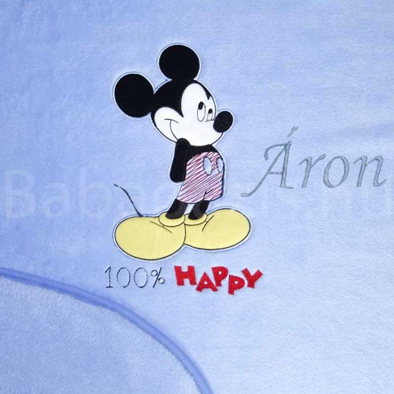 Névre szóló Disney Mickey wellsoft babatakaró - Babaoázis Webáruház-Egyedi  baba ajándékok 64a6467028