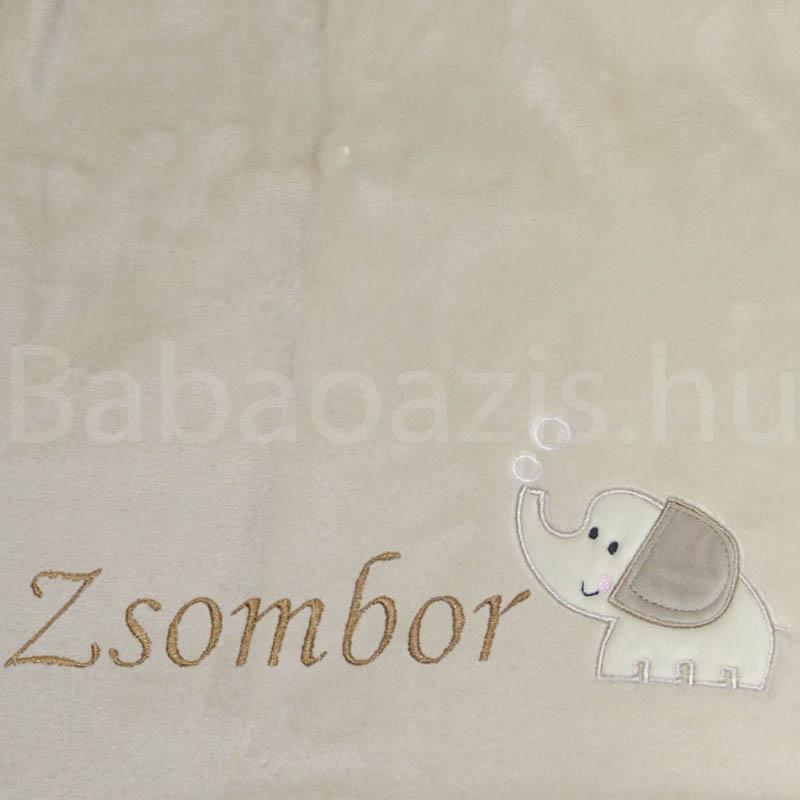 Névre szóló wellsoft babatakaró – elefántos 2. - Babaoázis Webáruház-Egyedi  baba ajándékok 9e0d827d4d