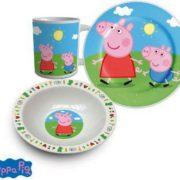 Gyermek porcelán étkészlet Peppa Pig