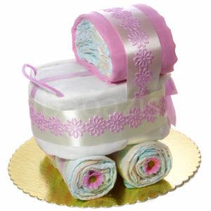 Babakocsi pelenkatorta 1250225 2 300x300 - Babakocsi pelenkatorta - rózsaszín