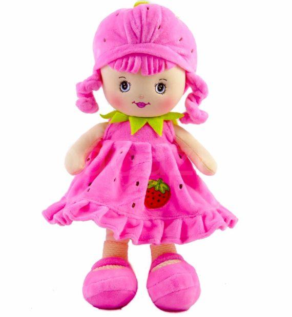 eperke plúss 1 570x619 - Eperke plüss baba - rózsaszín