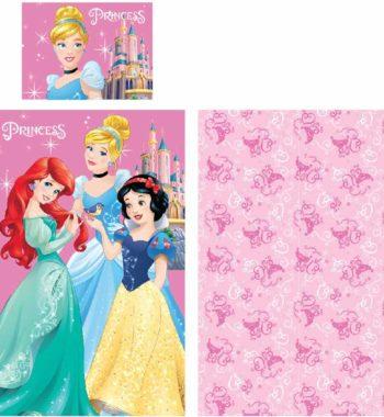 hercegnők ágynemű 350x380 - Gyerek ágyneműhuzat Disney Princess, Hercegnők 90×140cm, 40×55 cm