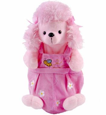 pink kutyás hátizsákP1250441 1 350x380 - Plüss ovis hátizsák – kutyusos- rózsaszín