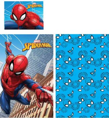 spiderman ágynemű 350x380 - Gyerek ágyneműhuzat Spiderman, Pókember 90×140cm, 40×55 cm