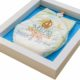 egyedi hímzett pelenka 1290581 80x80 - Többszínű hímzett pelus keretben - választható színek és minta/kék háttér