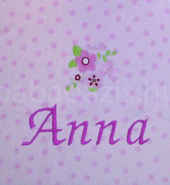 névre szóló babatakaró 1290729.2 350x380 - Névre szóló mikroszálas babatakaró – virágos - rózsaszín