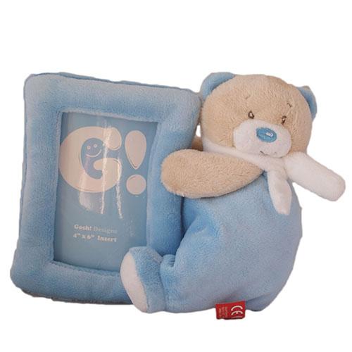 Plüss baba képtartó kék
