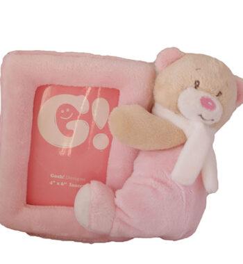 Plüss baba képtartó pink