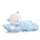 Plüss baby maci párnával kék 25cm 80x80 - Édes álom pelenkatorta - kék
