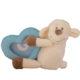 Plüss bébi bárány képtartóval-kék 17cm