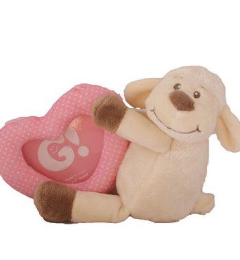 Plüss baba képtartó bárány rózsaszín
