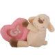 Plüss bébi bárány képtartóval-rózsaszín 17cm
