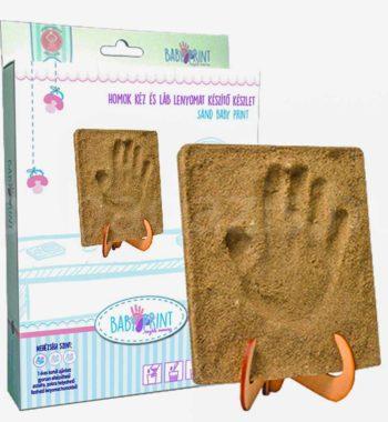 homok kez lenyomat keszito2 350x380 - Egyedi baba ajándék