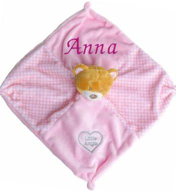 szundikendő macis rózsaszín
