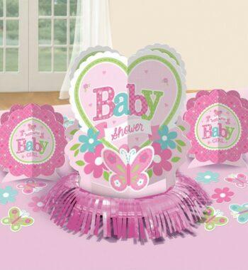 Welcome Baby Asztali dekoráció szett 350x380 - Welcome Baby Asztali dekoráció szett - rózsaszín