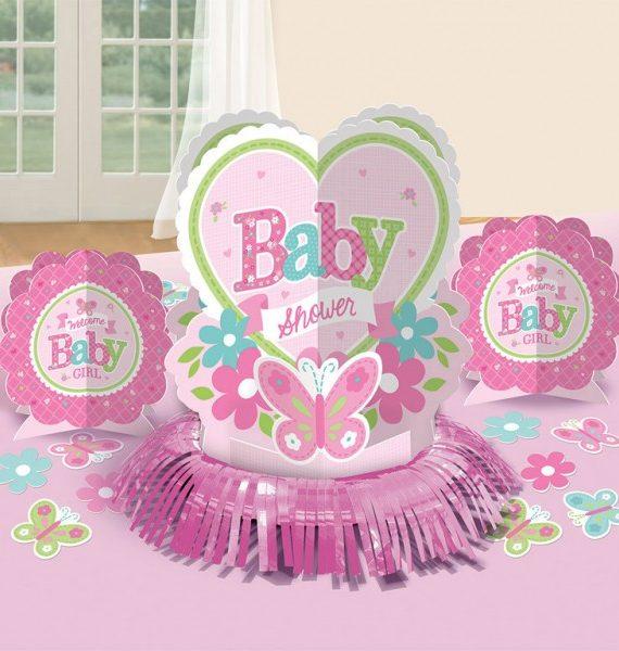 Welcome Baby Asztali dekoráció szett 570x600 - Welcome Baby Asztali dekoráció szett - rózsaszín