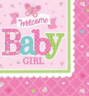 WelcomeBabyparty szalvéta 16 db os 247247 cm 350x380 - Welcome Baby party szett