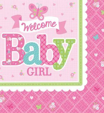 WelcomeBabyparty szalvéta 16 db os 247247 cm 350x380 - Egyedi baba ajándék