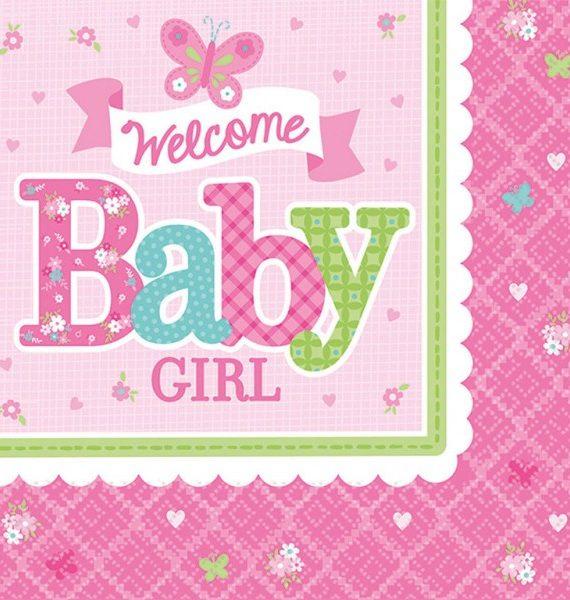 WelcomeBabyparty szalvéta 16 db os 247247 cm 570x600 - Welcome Baby party szett