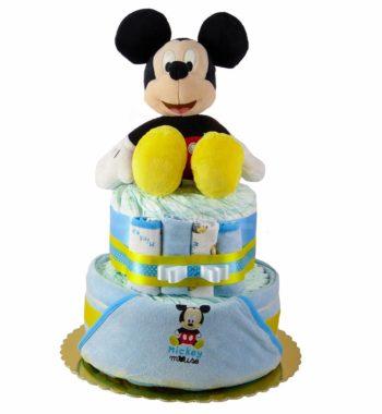 mickey pelenkatorta P1320225 1 350x380 - Mickey egér pelenkatorta - 2 szintes