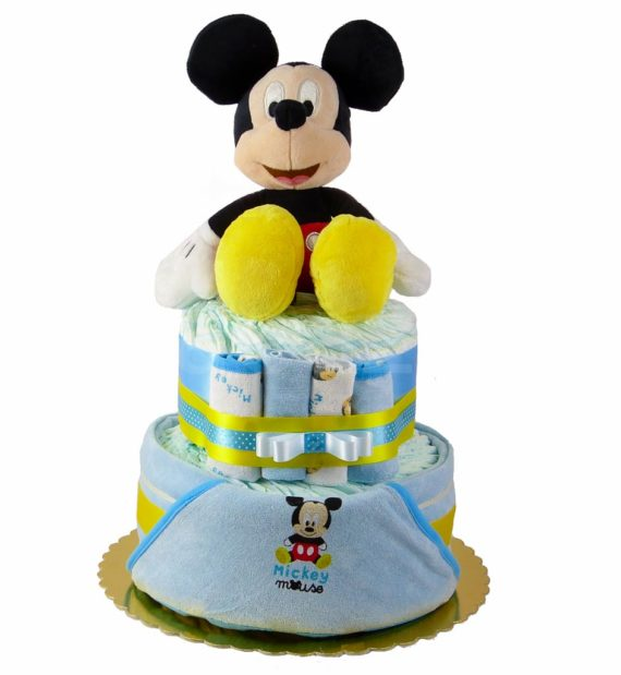 mickey pelenkatorta P1320225 1 570x619 - Mickey egér pelenkatorta - 2 szintes