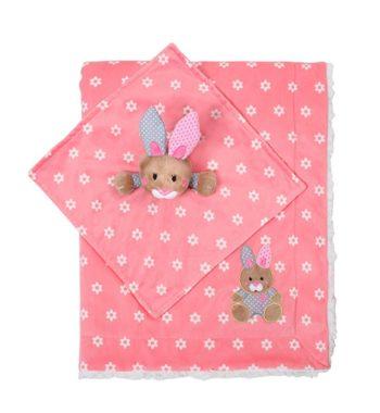 685544 350x380 - BabyOno puha babatakaró és szundikendő  nyuszis 75x100cm rózsaszín