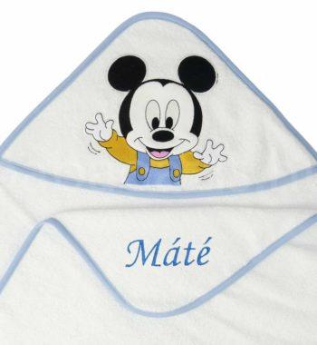 P1320589.2 350x380 - Névre szóló kapucnis törölköző – Mickey egér 2 - fehér