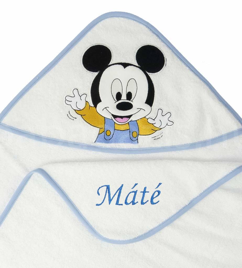 Névre szóló kapucnis törölköző – Mickey egér 2 - fehér - Babaoázis Webáruház -Egyedi baba ajándékok 93e334622e