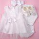 Keresztelő ruha szett kislányoknak 1. – 4 részes