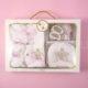 Ünneplő, keresztelő ruha szett – 4 részes – koronás – rózsaszín