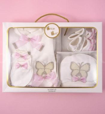 P1320700 350x380 - Ünneplő, keresztelő ruha szett - 4 részes - pillangós - rózsaszín