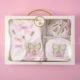 Ünneplő, keresztelő ruha szett – 4 részes – pillangós – rózsaszín
