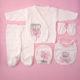 P1320713 80x80 - Ünneplő, keresztelő ruha szett - 5 részes - koronás - rózsaszín 2.