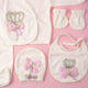 P1320715 80x80 - Ünneplő, keresztelő ruha szett - 5 részes - koronás - rózsaszín 2.